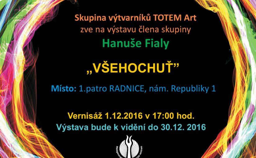 Hanuš Fiala, člen Totem-art, vystavuje v 1. poschodí budovy Magistrátu města Plzně.
